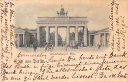 BERLIN BRANDENBURGER THOR.-1897 POSTMARK POSTCARD 40318 - Brandenburger Door