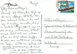 St Kitts 1996 Basse Terre Container Ship Viewcard - St.Kitts En Nevis ( 1983-...)