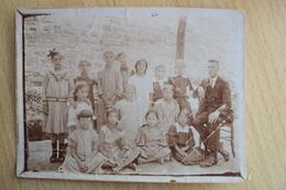 VECCHIA FOTO DEL 1916 CON SCOLARESCA DI UNA SCUOLA A BARCOLA VICINO TRIESTE - Places