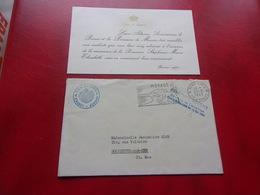 MONACO (1965) Lettre Du Palais Suite Naissance Stéphanie - Mónaco
