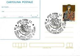 ITALIA - 1984 PARMA XIII Convegno Fil. - 60° Anniv. Morte Di Padre LINO Su Cartolina Postale CP Natale (CIMABUE) - Interi Postali