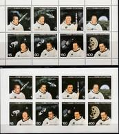 ÄQUAT.GUINEA 1978  MiNr. 1411-1418 Gezähnt + Geschnitten ** / MNH - Raumfahrt