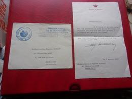 MONACO (1962) Lettre Du Palais De Remerciement - Mónaco