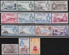 Gibraltar    .   SG  .    145/158 + 153a      .   O       . Cancelled        .   /    .  Gebruikt - Gibraltar