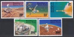 OBERVOLTA 1976  MiNr. 632-636 Komplett - Raumfahrt
