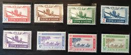 Côte D'Ivoire, Poste Aérienne, 1942 N° 10 - 17 ** Et * - Costa De Marfil (1892-1944)