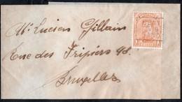 Bande Journal Affranchie Avec Un Timbre Préoblitéré Envoyée De Gand Vers Bruxelles En 1919 - Préoblitérés