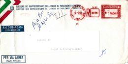 ITALIE - 1984 - Lettre Recommandée Par Avion Pour La France - Election Du Parlement Européen - 6. 1946-.. Republik