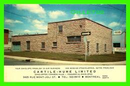 MONTRÉAL, QUÉBEC - CARTILE-HUME LIMITED - CIRCULÉE EN 1989 - PUB. BY WAL-MIR & CO - - Montreal