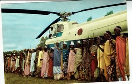BURUNDI-KITEGA-GITEGA-HELICOPTERE UTILISE PAR LE ROI BAUDOUIN - Burundi