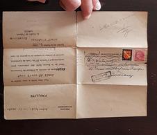 """LETTRE """" Tribunal De Commerce De BORDEAUX, Faillite"""" Avril 1947, Timbres Blason, Ceres. Cachet Retour A L'envoyeur - Marcophilie (Lettres)"""
