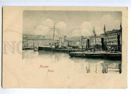 190367 Croatia Rijeka FIUME Ships In Port Vintage Postcard - Kroatien