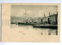 190367 Croatia Rijeka FIUME Ships In Port Vintage Postcard - Croatia