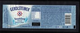 Allemagne Étiquette Eau Minérale Naturelle Sparkling Pétillante Gerolsteiner 0,5 L. - Etiquettes