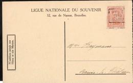 Carte Illustrée Affranchie Avec Un Timbre Préoblitéré Envoyée De Gand Vers Braine Le Château En 1919 - Préoblitérés
