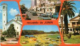 RECUERDO DE JUNIN, BUENOS AIRES. ARGENTINA POSTAL CIRCA 1960's NOT CIRCULATED -LILHU - Argentine