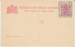 NEDERLAND BRIEFKAARTE MET BETAALD ANTWOORD NEW 1916/19 OVERLOAD - Entiers Postaux