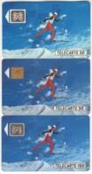 "Lot De 3 TC De 1991 Usagées ""Ski De Fond"". Y & T : 207, 207f & 208 - 1991"