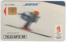 """Lot De 1 TC De 1991 Usagées """"Bose - Descente"""". Y & T : 216 - Frankreich"""