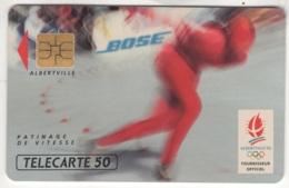 """Lot De 1 TC De 1991 Usagées """"Bose - Patinage De Vitesse"""". Y & T : 221 - Frankreich"""