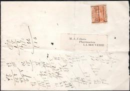 Bande Journal (fragment) Affranchie Avec Un Timbre Préoblitéré Envoyée De Bruxelles Vers La Bouverie En 1920 - Préoblitérés