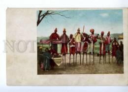 191402 CHINA TIBET Circus Acrobats On Stilts Vintage Postcard - Asie