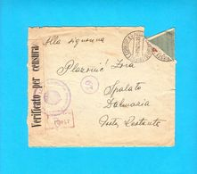 TRIESTE ... 1942. Registered Letter ( Posta Raccomandata ) Travelled To Spalato Dalmazia* CENSURA * Italy Italia Censure - 7. Trieste