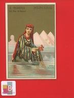 PARIS Richefeu Rue Saint-Honoré Jolie Chromo Doré Courbe Rouzet Mer Rouge Egypte Jeune Fille Corail Pyramides - Chromos