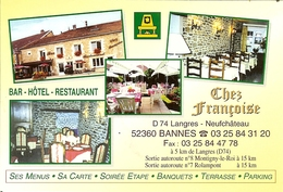 "CP De BANNES "" Chez François "" - Nogent-en-Bassigny"