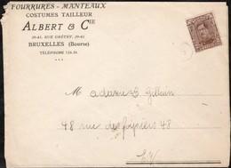 Lettre Affranchie Avec Un Timbre Préoblitéré Envoyée De Bruxelles En Ville En 1920 - Préoblitérés