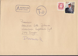 Norway Boxed A Prioritaire Par Avion OSLO 1998? Cover DRAGOER Denmark Postage Due TAXE T-Cds 70/600 (Encircled) - Norwegen