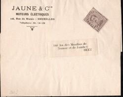 Bande Journal Affranchie Avec Un Timbre Préoblitéré Envoyée De Bruxelles Vers Beez En 1920 - Préoblitérés