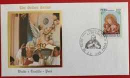PERU TRUJILLO PAPA Navidad 1983 Pmk 1985 - Peru