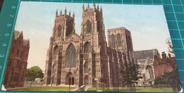 York Minster ~ Postmarked 1913 Photochrom Postcard - York