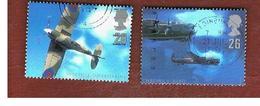 GRAN BRETAGNA.GREAT BRITAIN -  SG 1984.1985  -  1997   BRITISH AIRCRAFTS DESIGNERS  - USATI - 1952-.... (Elisabetta II)