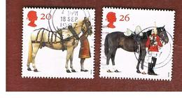 GRAN BRETAGNA.GREAT BRITAIN -  SG 1989.1990  -  1997   BRITISH HORSE SOCIETY  - USATI - Used Stamps