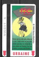 Carte De Transport - TEC - BD Natacha - Transport En Commun Belgique - Urbaine - 1999 - Europe