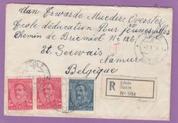 EINGESCHRIEBENER  BRIEF  VON ZDOLE NACH NAMUR,BELGIEN. - 1931-1941 Königreich Jugoslawien