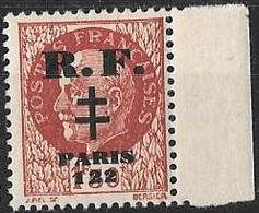 FRANCE LIBERATION..PARIS 122 1f50** Brun+ BDF. Sge TYPO..Signé P MAYER + LION - Libération