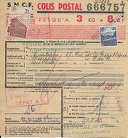Bulletin D'expédition De Colis Postaux - N° 237551 Avec Timbres N° 189 & 208 -- 22-04-19 - Non Classés