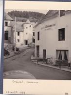 63 / ORCIVAL / HOTEL DU COMMERCE / AU VIEUX LOGIS / TRES BELLE PHOTO  / 18 AOUT 1958 / 9X12 - France