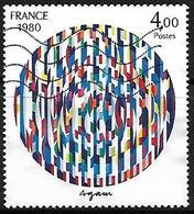 FRANCE    -   1980  .  Y&T N° 2113 Oblitéré.  Oeuvre De Agam - France
