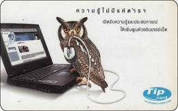 Thailand  Phonecard Eule Owl   Tip - Dschungel
