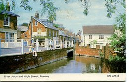 WILTS - PEWSEY - RIVER AVON AND HIGH STREET Wi308 - England