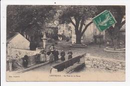 CPA 30 LANUEJOLS Le Pont Et La Place - Autres Communes
