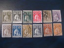 MACAU Ceres 1914/21 Yvert 210/20 + 224 12 Stamp 8 Cancel (Perf 15x14 Cat Year 2008: 73,75 Eur) Macao Portugal China Area - Macau
