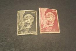 K20187- Set MNH Vatican City 1968 - SC. C53-54 - Archangel Gabriel By Fra Angelico - Poste Aérienne