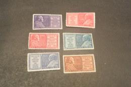 K20210 - Set MNH  Vatican City 1954 - SC.  176-181 - Pope Pius IX - Vatican