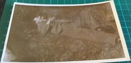 Old Real B&W Photo Postcard ~ Man Resting On Ground ~ Jerome Ltd - Postcards