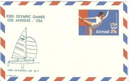 USA Unused Olympic Stationery Card JLP Nr. 11 With Yauchting - Zomer 1984: Los Angeles